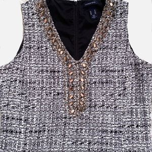 Lands' End Sparkly Tweed Sheath Dress